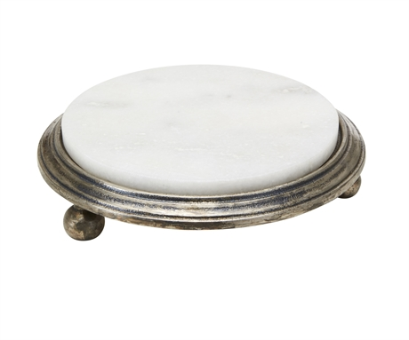 Cake Stand Alu White Marble