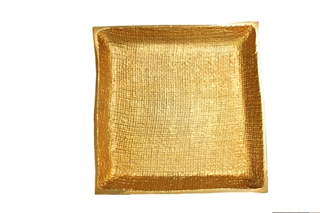 Square Plate in matt gold