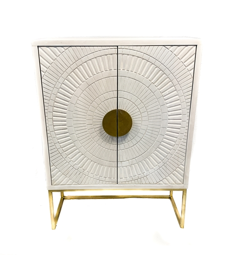 Cabinet 2 door Brass