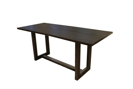 Dining Table Narrow Vintage Black