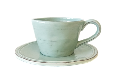 Cup And Saucer Green