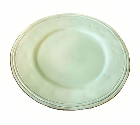 Large Plate Green D34 Cm