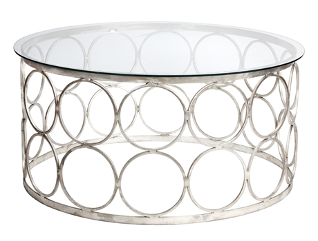 Iron Round Table Glass Top