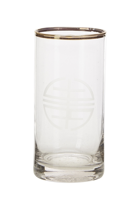 Whisky glass gold w-logo