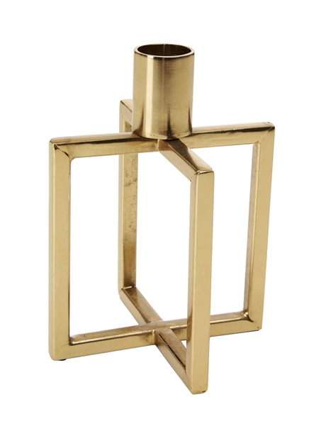 Candle Holder Square Gold