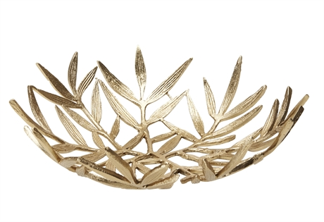 Leaf Tray Bowl Gold