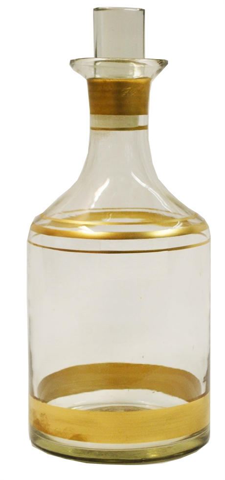 Decanter with gold painted rim 28x11,5