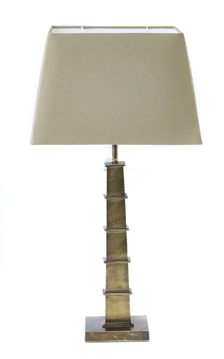 Table lamp brass antique