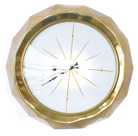 Wall Clock Gold Contemporary