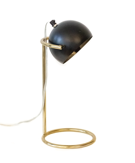 Table Lamp Black & Brass Color