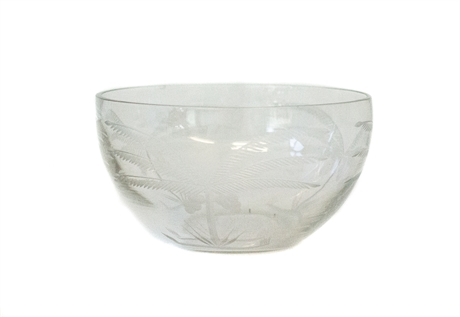 Bowl with palmtree cut