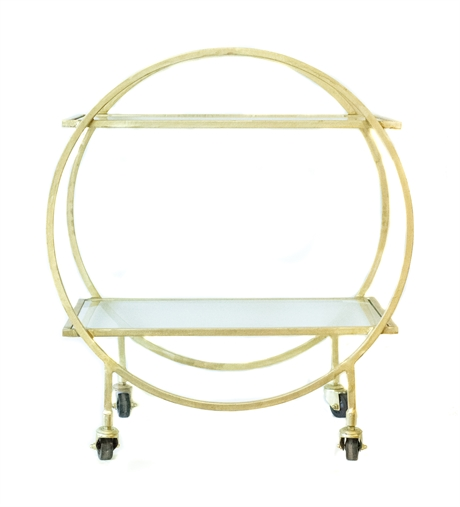 Iron round circle trolley