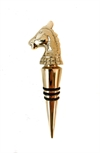 Horse Bottle Stopper Brass