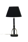 Table Lamp Leather String Black