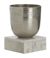 F-Vase Alu With Marble Base Small