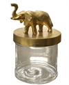 Box With Lid Small Elephant Gold