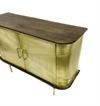 Cabinet Wood 2 door w/brass