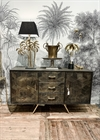 Wooden Brass Cabinet 3 Drawer 2 door