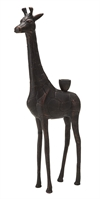 Giraffe Candle Holder Copper Antique