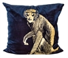 Blue Monkey Cushion