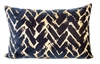 Antiq Gold Print Navy