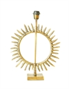 Table Lamp Starburst Sun Shiny Gold