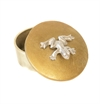 Box With Lid Gold Frog