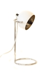 Table Lamp White Matt & Silver