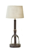 Table Lamp Leather String Brown