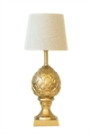 Table lamp cone raw chem gold