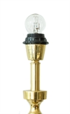 Table lamp gold pillar high