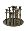 Round Black Candleholder 7-Lights