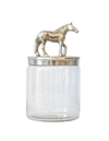 Glas Jar w Horse nickle