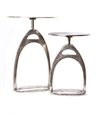 Stirrup table S Raw ant. Nickle