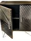 Wooden raised Chevron 2 Door Cabinet